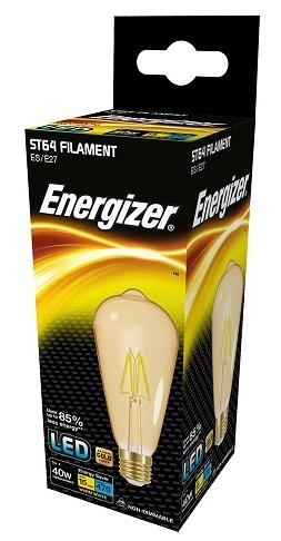 Energizer 4W E27 LED GOLD ST64 (~40W)