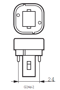 G24D-2 Lampfitting  | De Energiebron BV - Groothandel in batterijen en lichtbronnen